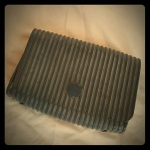 Vintage Gray Rubber Clutch